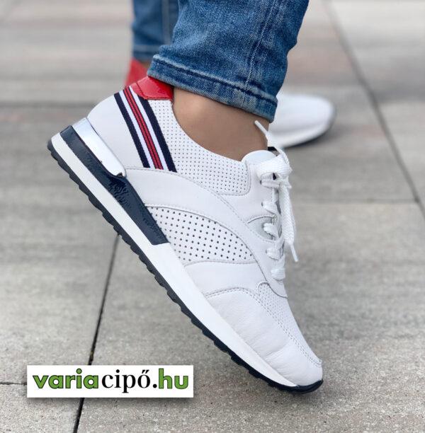 Remonte fehér női sportos utcai cipő - D2525-80