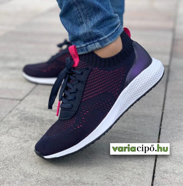 Tamaris Fashletics sportos utcai cipő, 1-23714-26 870 navy/magenta
