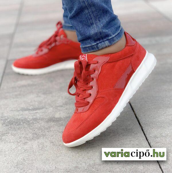 Tamaris női utcai sportcipő, piros - 1-23625-26 500