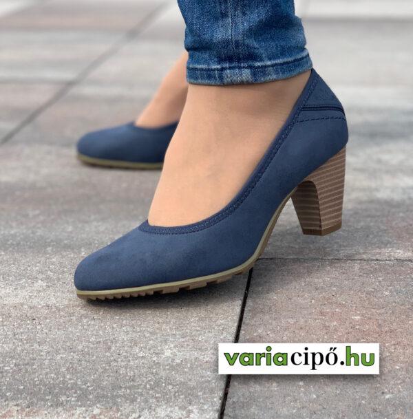 S.Oliver kék női magassarkú cipő 5-22404-26 805 navy