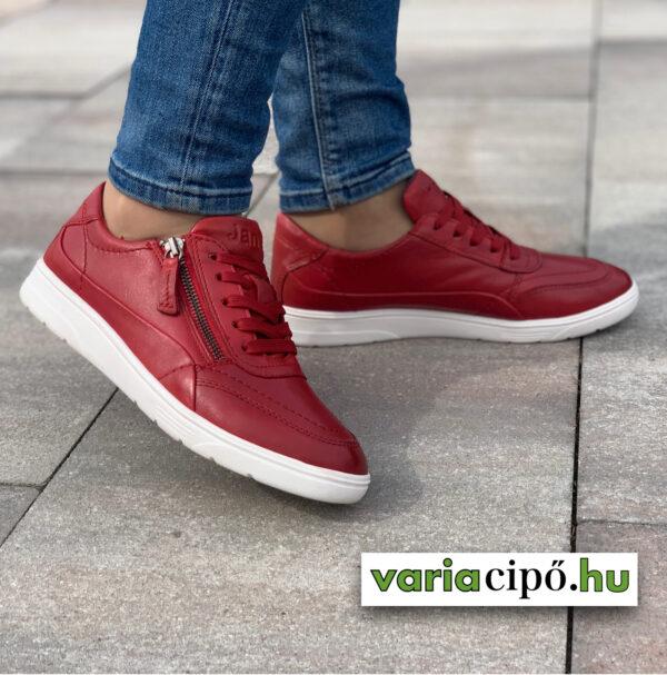 Jana piros női utcai bőrcipő - 8-23750-26 500 red