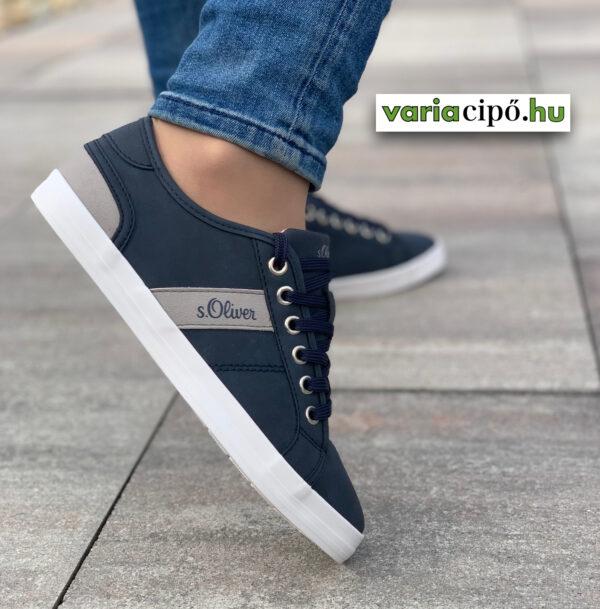 S.Oliver sportos női utcai cipő, 5-23635-26 825 navy kék