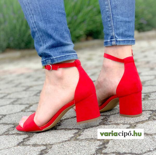 s.Oliver piros bokapántos női szandál 5-28318-34 500 red