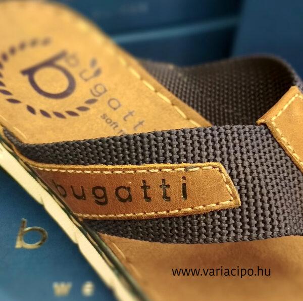 Bugatti ujjközes férfi papucs kék-barna 311-a3280-6912-4163
