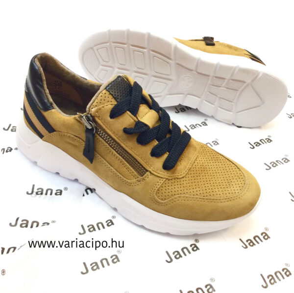 Jana sárga női utcai bőrcipő-8-23728-25-690