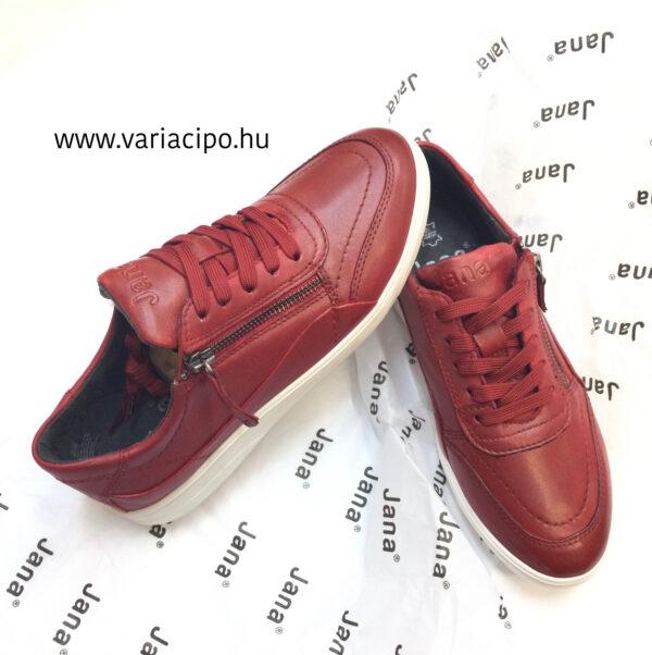 Jana piros női utcai bőrcipő 8-23750-26 500
