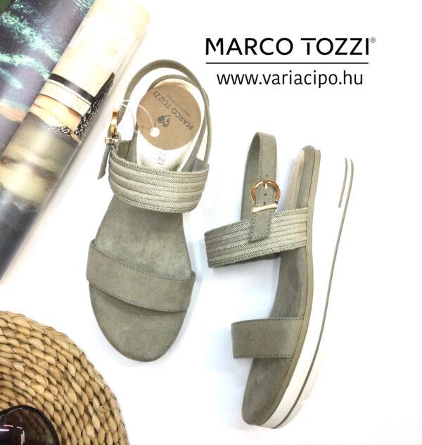 Marco Tozzi platformos szandál, kaktusz szín, 2-28771-26-cactus