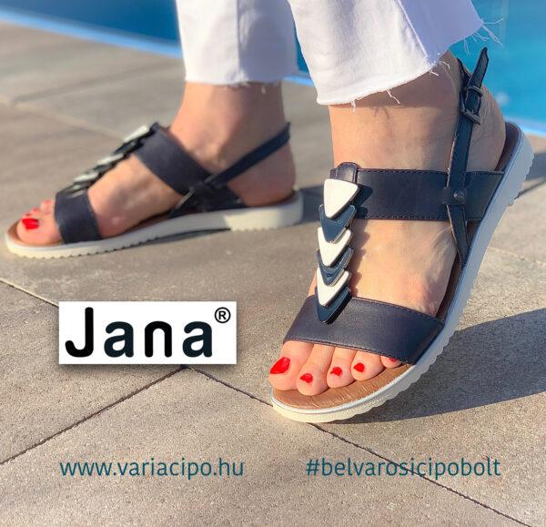 Jana sötétkék női szandáa fém díszitéssel, 8-28118-26-805-navy