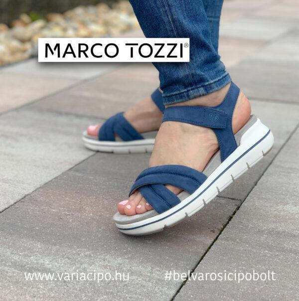 Marco Tozzi kék színű vegan szandál, 2-28554-26-803