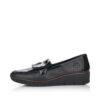 Rieker női utcai félcipő 53764-00 fekete