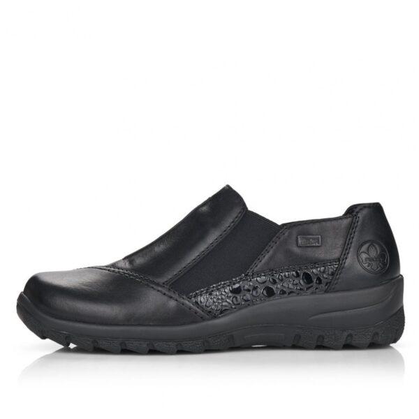 Rieker zárt félcipő, L7178-00, fekete, texes