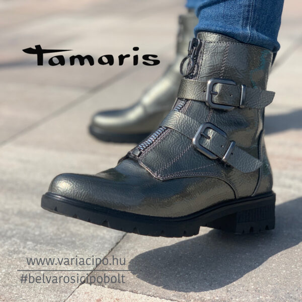 Tamaris lakk bakancs, 1-25414-27-975, ón színű
