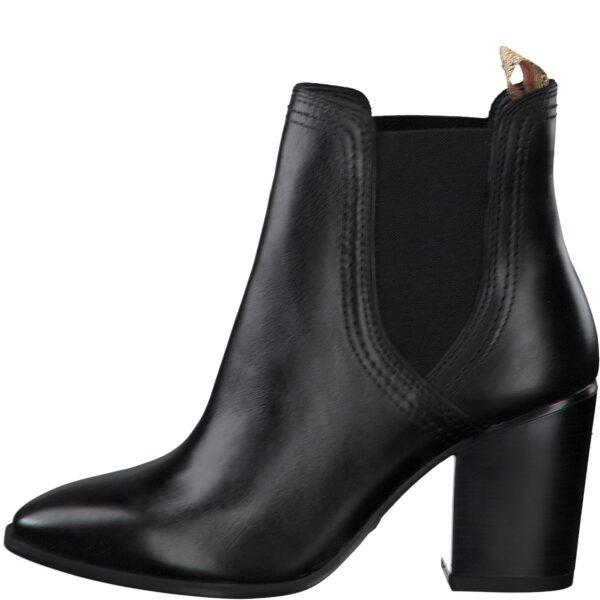 Tamaris western-típusú bőr bokacsizma, 1-25377-25-003, fekete