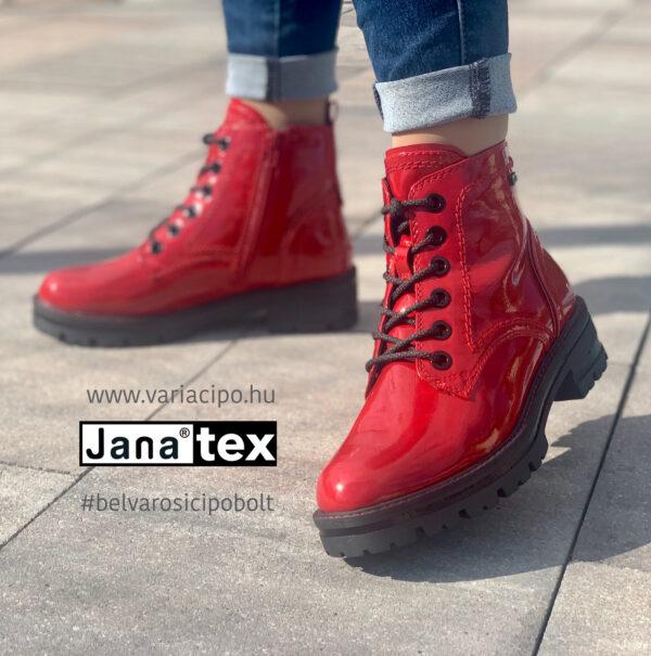 Jana tex lakk bakancs 8-26209-27-505-red