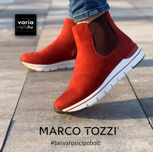 Marco Tozzi bokacsizma, 2-25872-25, tégla szín