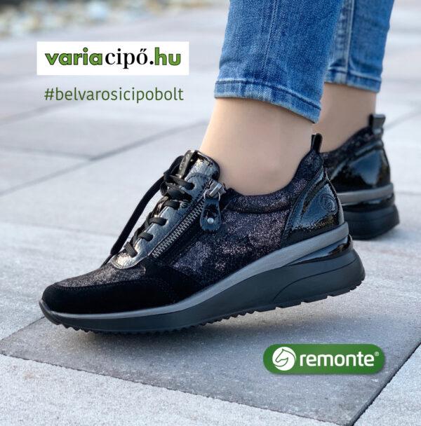 Remonte sportos utcai félcipő, D2401-02-black