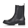 Remonte rövid szárú bőr csizma, D8685-01 fekete