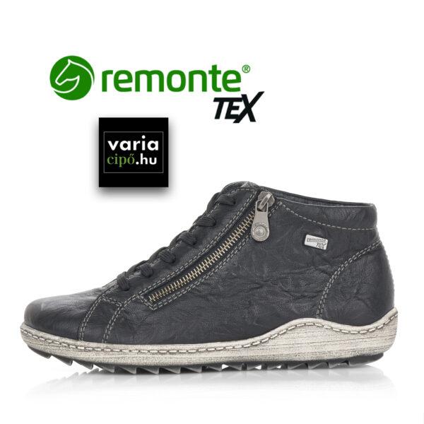 Remonte tex fűzős bokacipő, fekete R1470-00