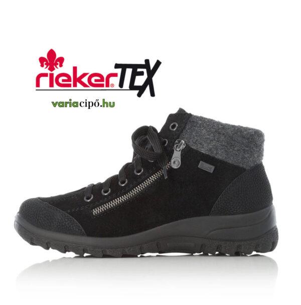 Rieker tex fekete bakancs, L7132-01