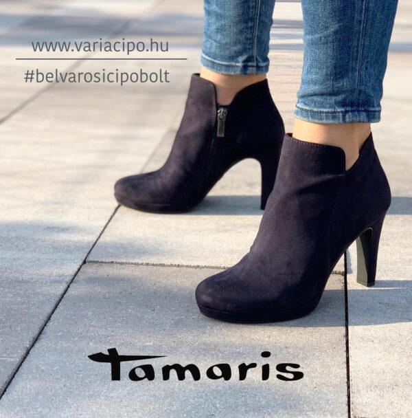 Tamaris platformos női bokacsizma, 1-25316-25 805, kék