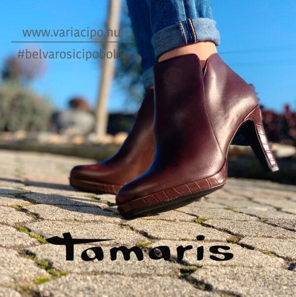 Tamaris platformos női bokacsizma, 1-25386-25 357, barna