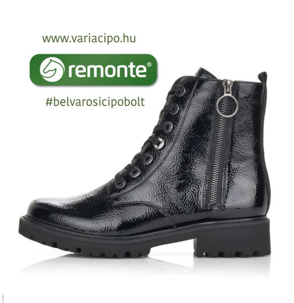 Remonte fekete lakk bakancs D8671-02-black